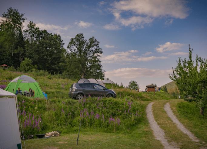 Zeltplätze auf unserem Campingplatz