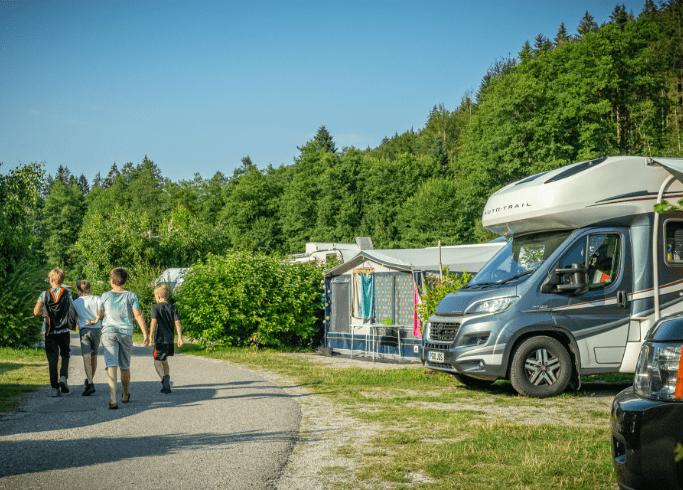 Stellplätze auf unserem Campingplatz