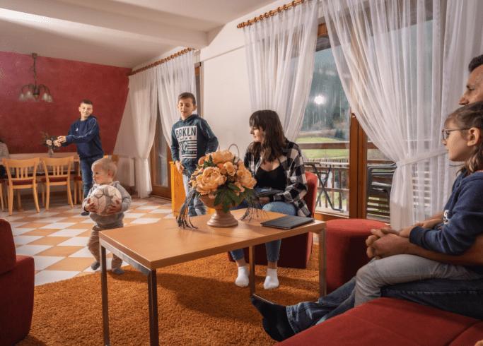 Familie in einer unserer Ferienwohnungen