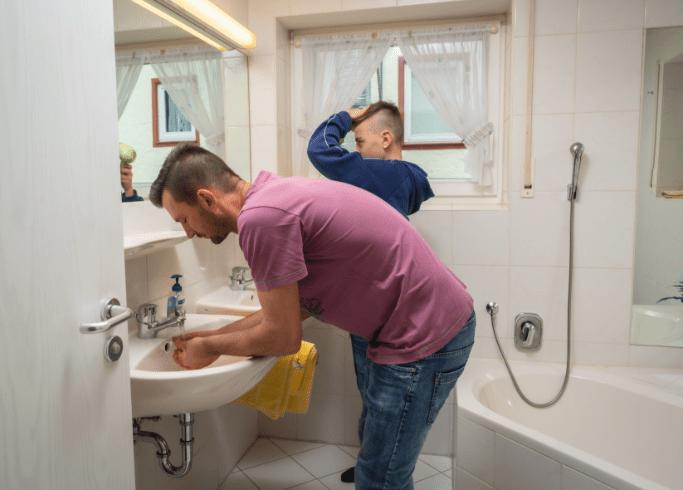 Badezimmer in einer unserer Ferienwohnungen