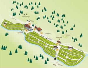 Lageplan des Kleinenzhof Gelände