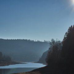 Nagoldtalsperre im Kreis Freudenstadt im Schwarzwald